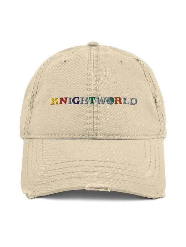 UCF Knights Knightworld Embroidered Distressed Dad Hat - Geistwear