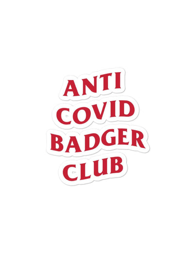 UW Madison Badgers Anti Covid Badger Club Sticker - Geistwear