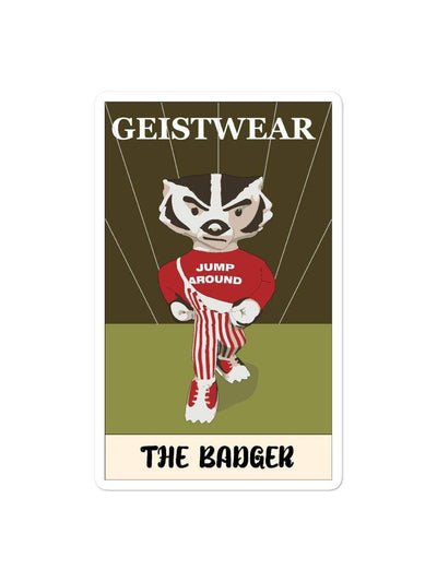 UW Madison Badgers Badger Card Sticker - Geistwear