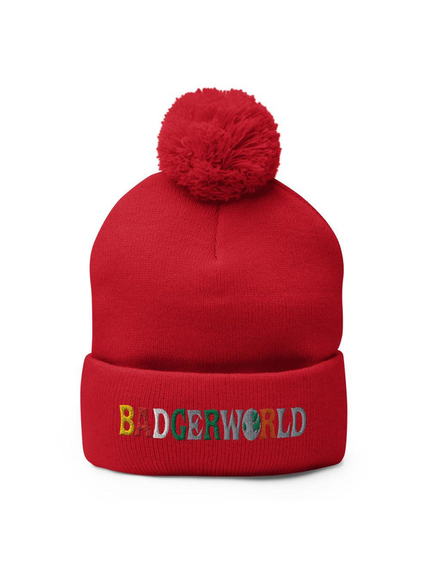 UW Madison Badgers Badgerworld Pom-Pom Beanie - Geistwear