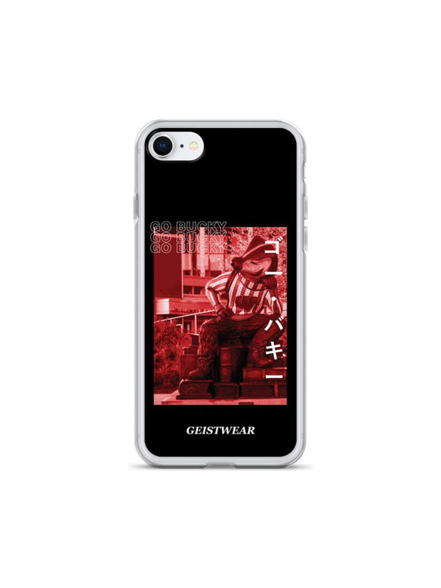 UW Madison Badgers Go Bucky Katakana iPhone Case - Geistwear