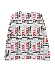 UW Madison Badgers Pattern Tracksuit Sweatshirt - Geistwear
