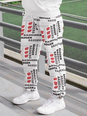 UW Madison Badgers Pattern Tracksuit Women's Sweatpants - Geistwear