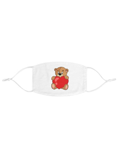 Valentine's Day Teddy Bear Fabric Face Mask - Geistwear