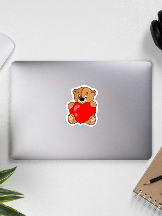 Valentine's Day Teddy Bear Sticker - Geistwear