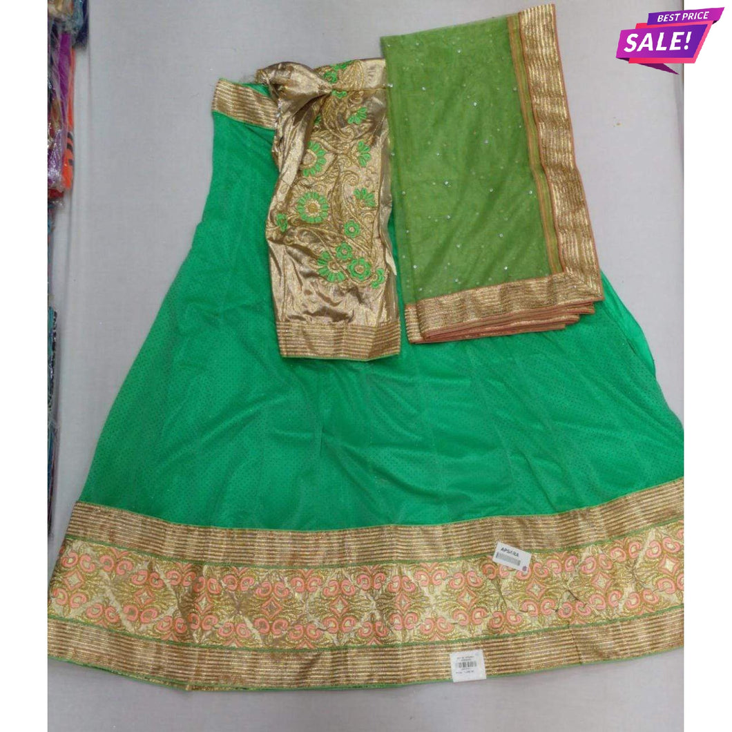 Newapsara Olive Semi-Stitched Lehenga & Blouse with Dupatta