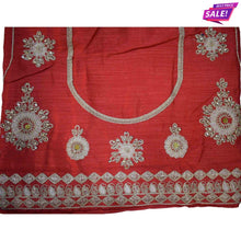 Load image into Gallery viewer, Aps Cream Art Silk Embellished Unstitched Lehenga & Blouse with Dupatta-New Apsara