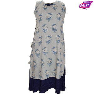 Aps Off-White Rayon Printed Kurti