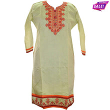 Load image into Gallery viewer, Aps Green Chanderi Silk Embroidered Kurti-New Apsara