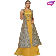 Load image into Gallery viewer, Aps Yellow Stitched Lehenga & Stitched Blouse with Jacket-New Apsara