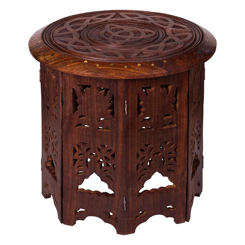 Triquetra Carved Wooden Altar / Display Table