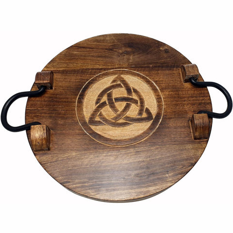 Wooden Carved Triquetra Tray
