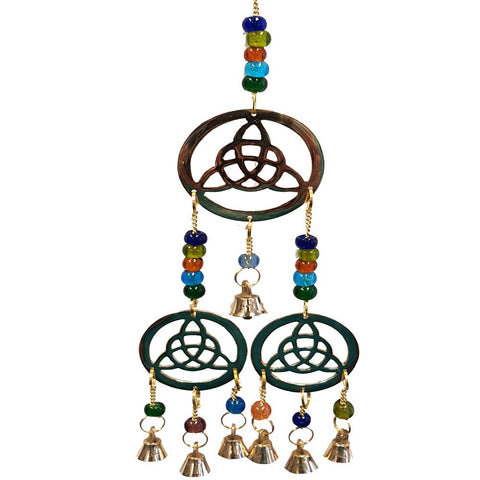 Triquetra Brass Bell Windchime