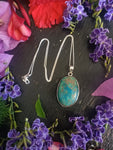 Sterling Silver Chrysocolla Necklace