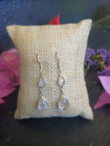 Rainbow Moonstone earrings