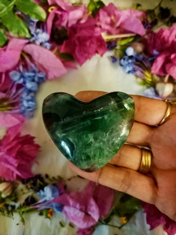 Medium Rainbow Fluorite Heart