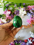 Malachite Egg with Stand