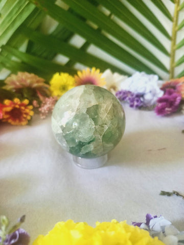 Large Fluorite Sphere with Stand