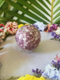 Large Lepidolite Sphere with Stand