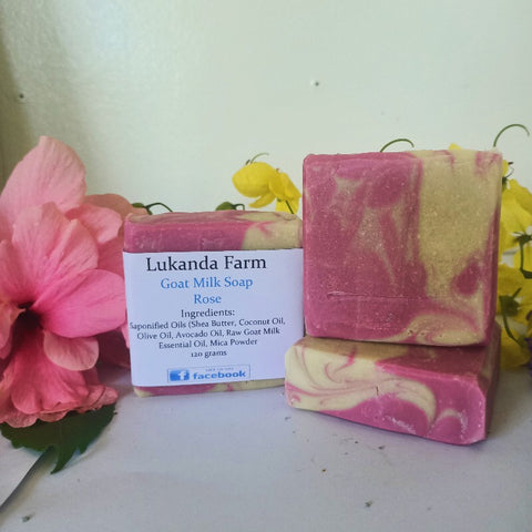 Rose Scented Goat Milk Soap (No Flowers)