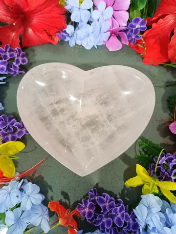 Rose Quartz Heart Bowl