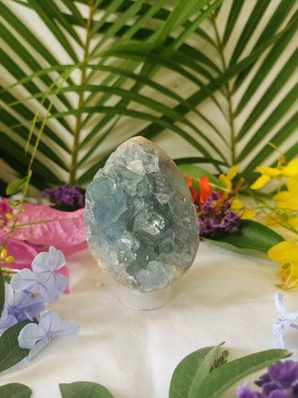 Celestite Egg with Stand