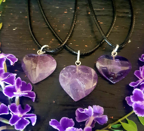 Amethyst Heart Necklace-Gypsy Divine-Gypsy Divine