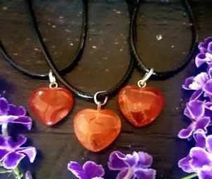 Carnelian Heart Necklace-Gypsy Divine-Gypsy Divine