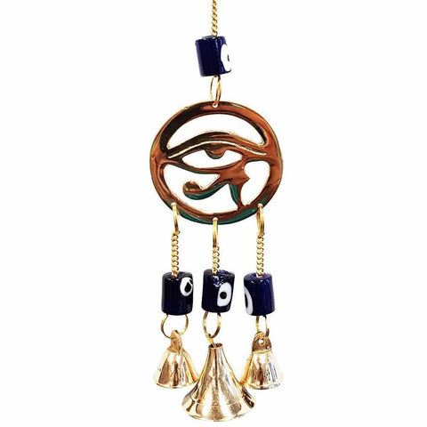Eye Of Horus Brass Bell Windchime-Gypsy Divine-Gypsy Divine