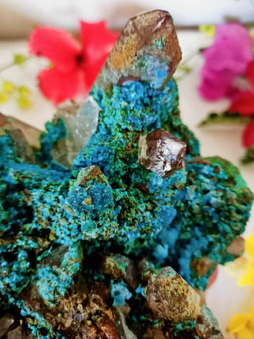 Large Chrysocolla with Quartz Inclusion-Gypsy Divine-Gypsy Divine