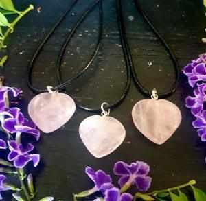 Rose Quartz Heart Necklace-Gypsy Divine-Gypsy Divine