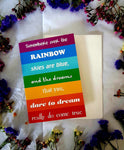 Somewhere Over The Rainbow Blank Card-Gypsy Divine-Gypsy Divine