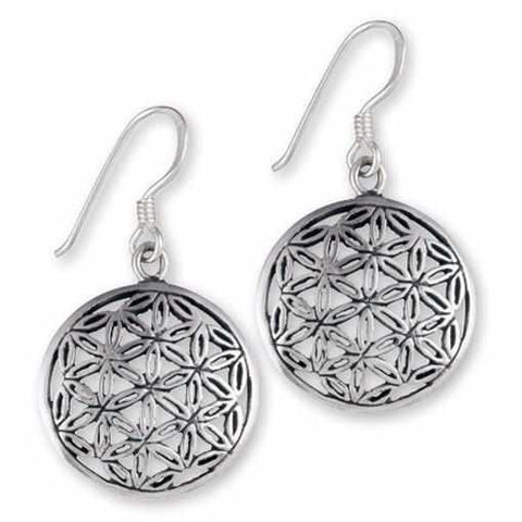 Sterling Silver Flower of Life Earrings-Gypsy Divine-Gypsy Divine