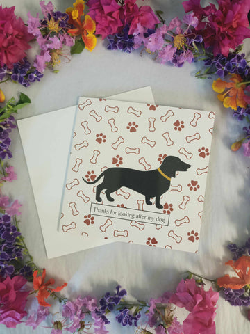 Thanks For Looking After My Dog Blank Gift Card-Gypsy Divine-Gypsy Divine