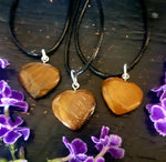 Tigers Eye Heart Necklace-Gypsy Divine-Gypsy Divine