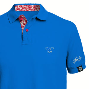 [Limited Edition] STAN LEE SIGNATURE POLO - Royal Blue