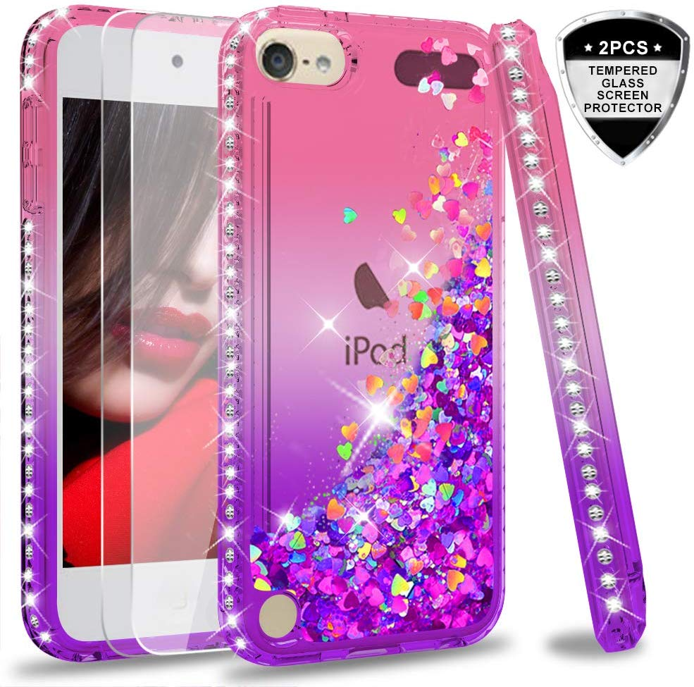 Macaron Color Bling Lightweight Soft TPU Case Cover for Apple iPod Touch 5//6//7 Cute Ultra Thin iPod Touch 6 5 Case J.west iPod Touch 7 Case Tinfoil Series Colorful