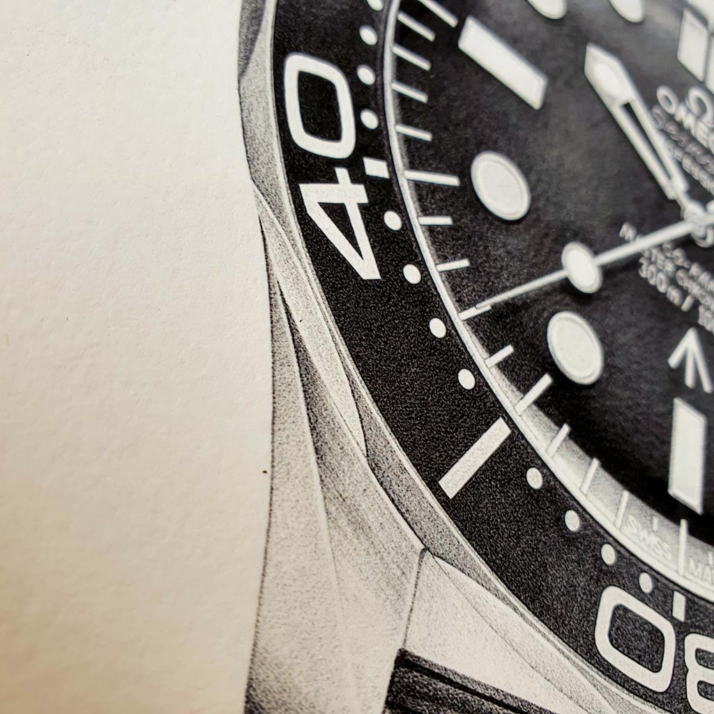 Most Iconic Jame Bond Watches : No Time to Die - Limited Edition Prints