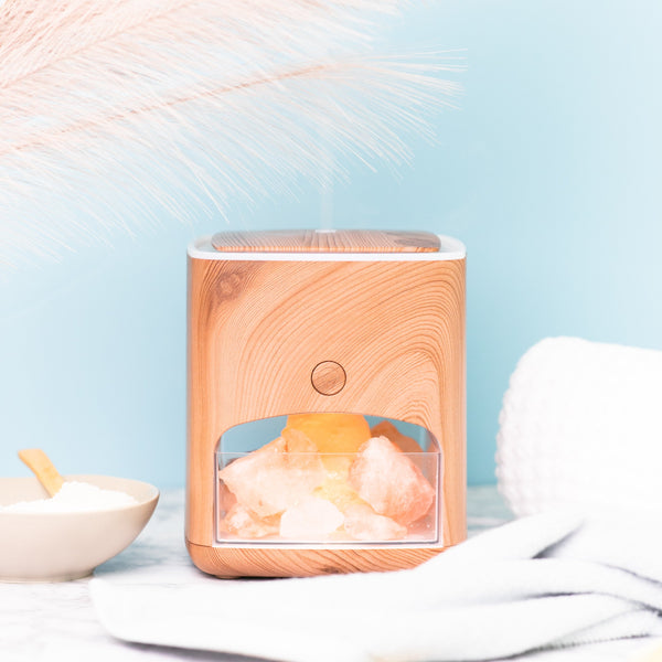 Himalayan Pink Salt Diffuser with 10 Essential Oils