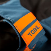 TOBE Tiro Mono Suit, Legion Blue - Velcro wrist closure