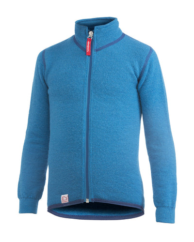 KIDS Full Zip Jacket 400, Dolphin Blue