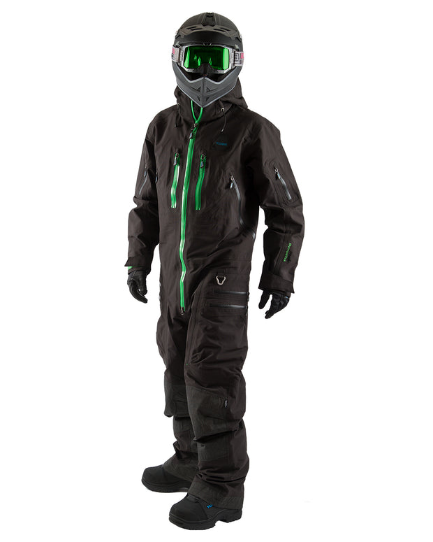 TOBE Rex Mono Suit, Jet Black - Front on model