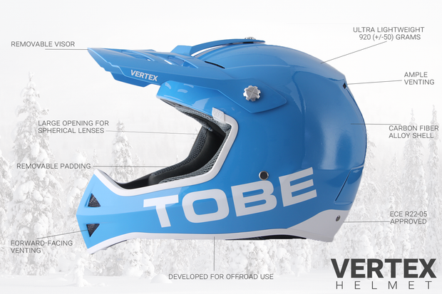 Vertex Helmet, Glossy Chili Pepper