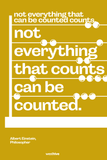 not everything that can be counted counts, not everything that counts can be counted.
