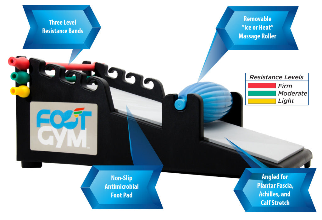 orthosleeve foot gym is an all-in-one device that provides foot exercises to relieve plantar fasciitis