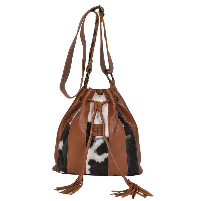 STS Large Cowhide Bucket Bag Saddle