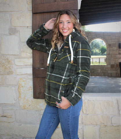 Powder River Hunter Green Hooded Jacket