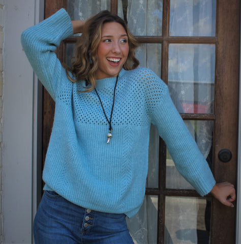 La Miel Sky Blue Sweater