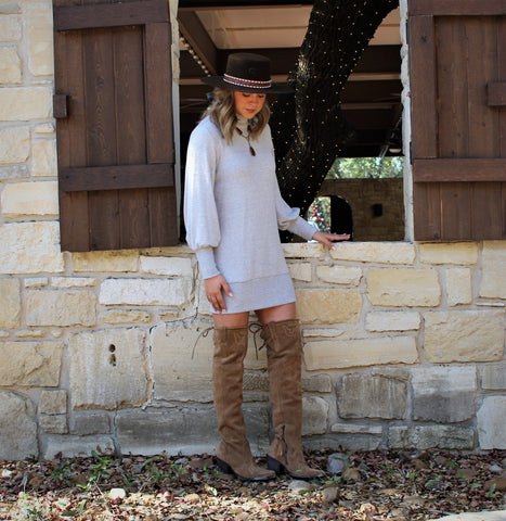 Sweater Mock Neck Dress