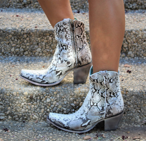 Corral Natural Python Short Boot